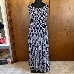 LANE BRYANT plus size geometric maxi dress